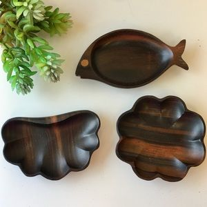 Kamagong Wood Fish Clamshell Scalloped Rou…